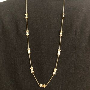 Fabulous Kate Spade gold bow necklace